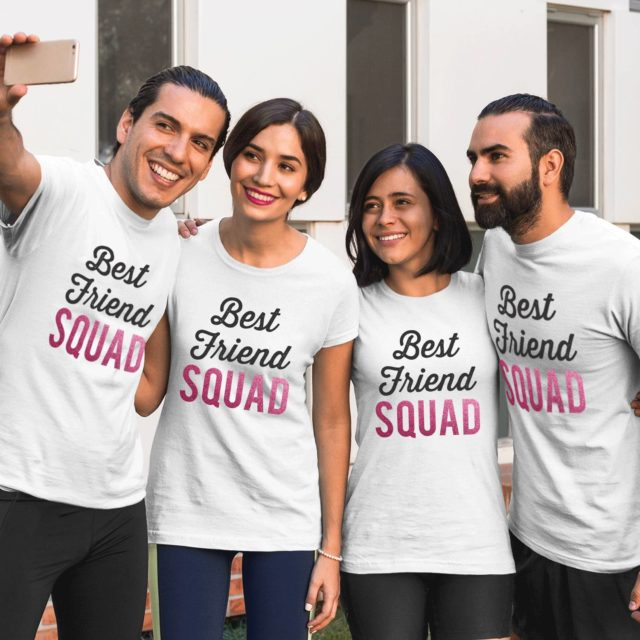 Best Friend Squad Shirts, Best Friends Gift, Cute BFF T-Shirts