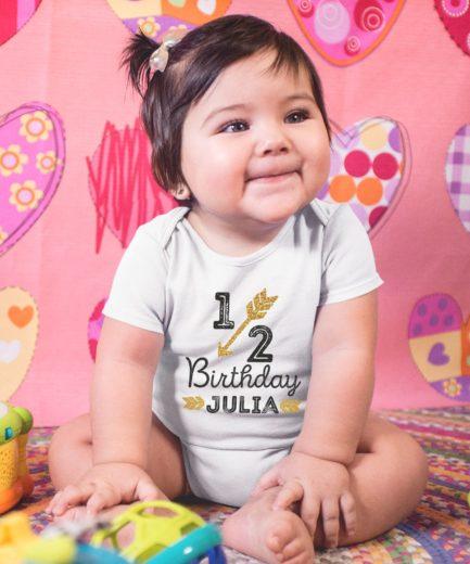 Half Birthday Shirt, Baby Outfit, Half Birthday Custom Name, Family Shirts