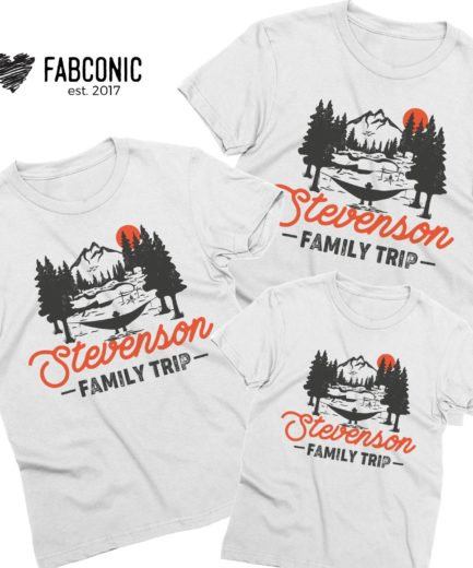 Personalized Family Trip Shirts, Mountains, Family Trip Outfit, Family Shirts