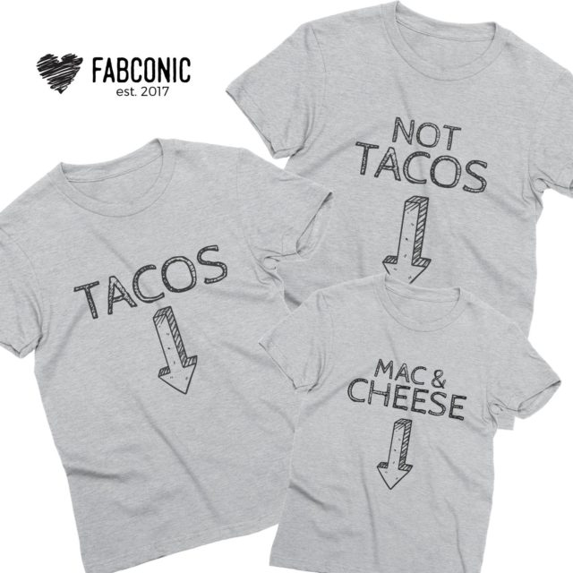 Funny Pregnancy Announcement Shirts, Tacos, Not Tacos, Mac & Cheese