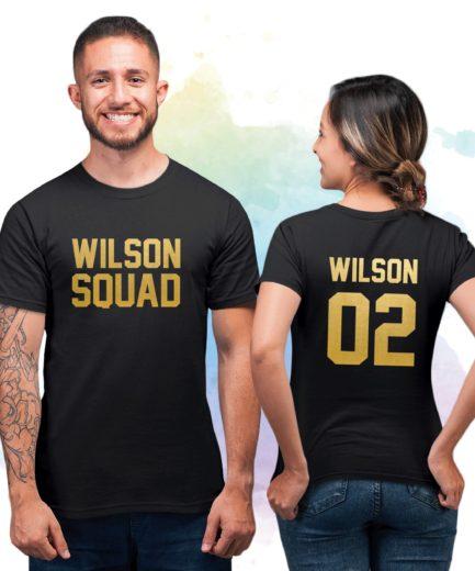 Family Squad Shirts, Wilson Squad, Wilson 01 Wilson 02, Family Shirts