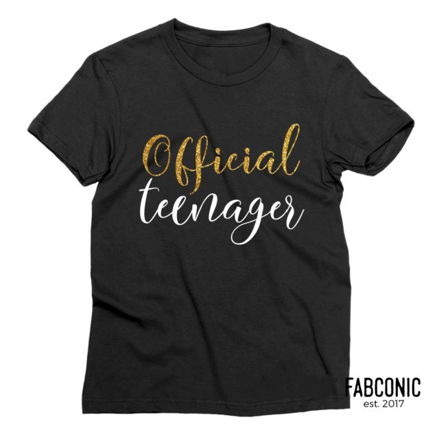 Official Teenager Shirt, 13th Birthday Outfit, Family Shirts