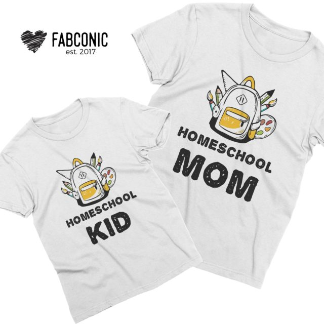 Homeschool Shirts, Homeschool Mom, Homeschool Kid, Mother Kid Shirts