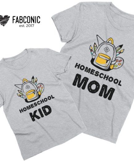 Homeschool Shirts, Homeschool Mom, Homeschool Kid, Mother Kid Shirts