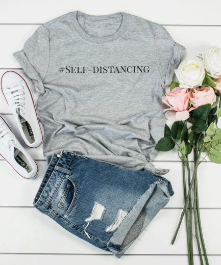 Self-Distancing Shirt, Introvert Gift, Social Distancing T-Shirt