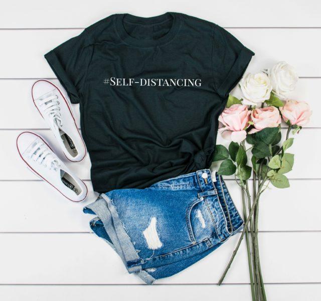 Self-Distancing Shirt, Introvert Gift, Social Distancing T-Shirt