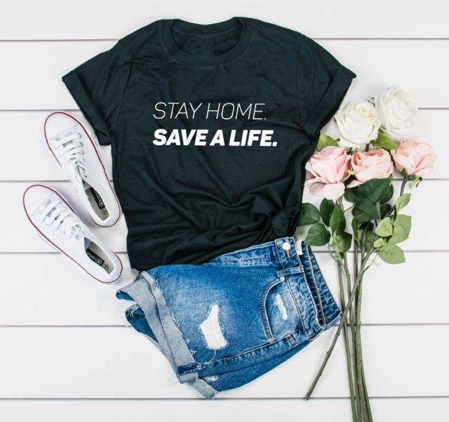 Nurse Shirt, Stay Home, Save a Life Shirt, Nurse Gift, Social Distancing Shirt