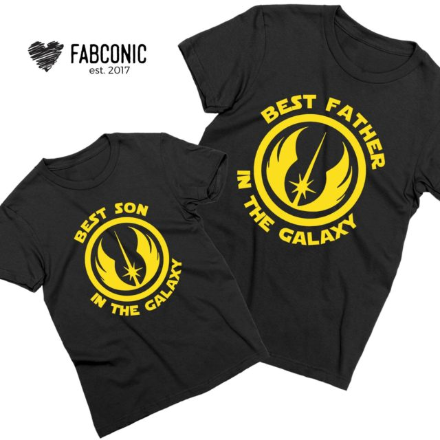 Best Father in the Galaxy Shirt, Best Son in the Galaxy, Father & Kid Shirts