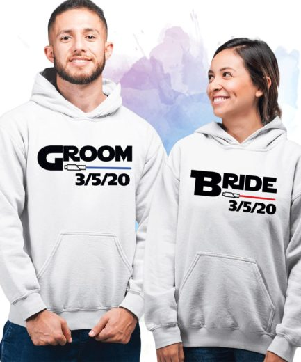 Bride Groom Couple Hoodies, Lightsaber Hoodie, Matching Couple Hoodies