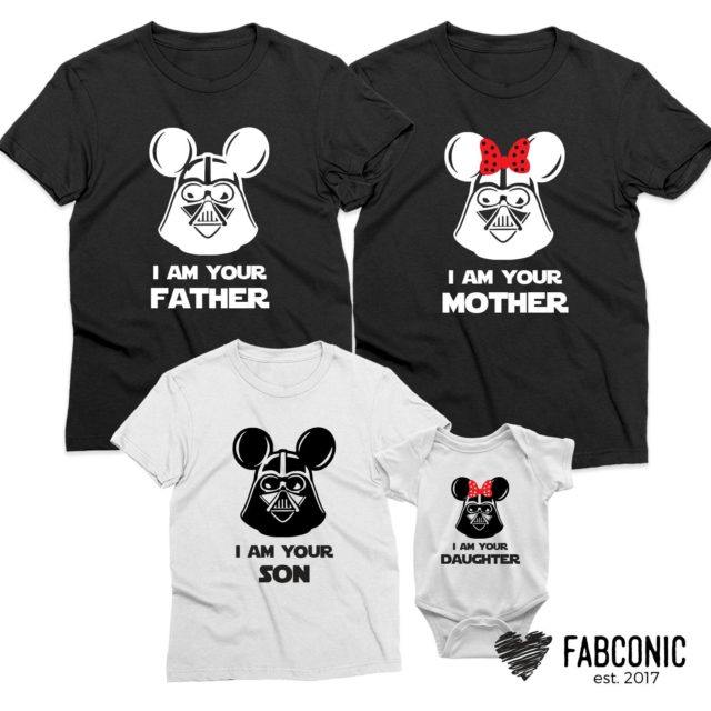 Mickey Minnie Heads Family Shirts, Father Mother Son Daughter, Matching Shirts