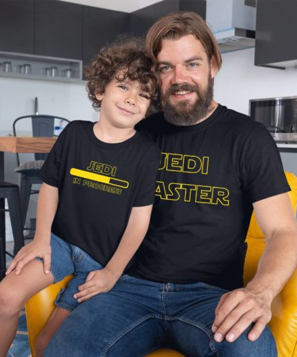 Jedi Master Jedi in Progress Shirts, Jedi Shirts, Matching Father and Kid Shirts