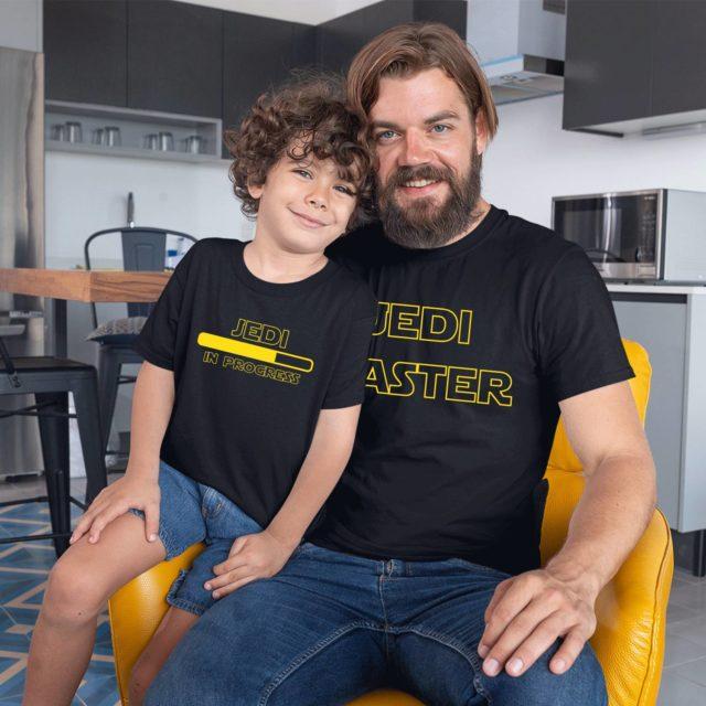Jedi Master Jedi in Progress Shirts, Jedi Shirts, Matching Father and Kid Shirts