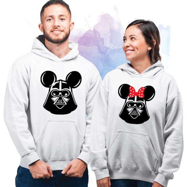 Mickey Minnie Jedi Heads Hoodies, Couple Hoodies, Matching Hoodies for Couples