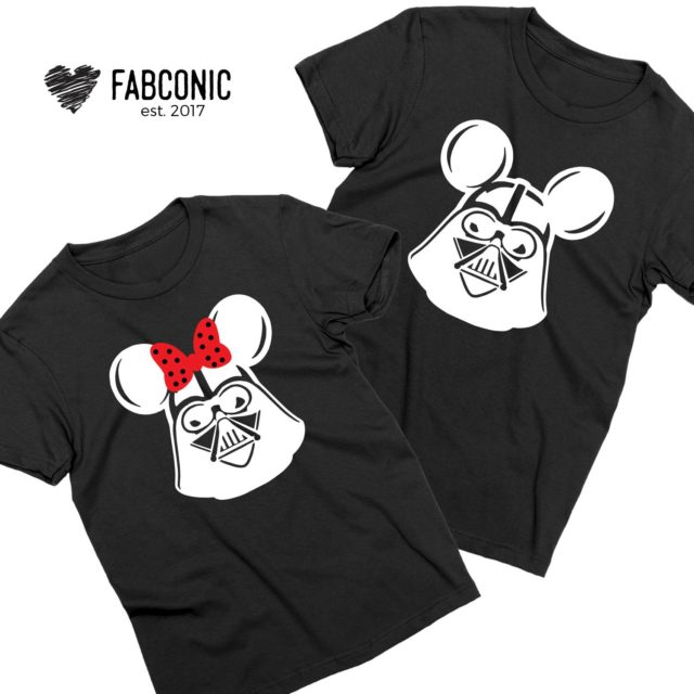 Mickey Minnie Heads Shirts, Couple Shirts, Funny Matching Shirts